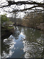 TM2281 : River off Mill Lane by Geographer