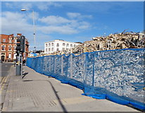 SK5804 : Pile of rubble along Welford Road by Mat Fascione