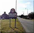 TM2382 : Entering Needham on High Road by Adrian Cable