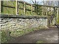 SE1315 : Railway boundary stone off Burbeary Road by Humphrey Bolton