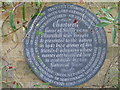 TQ4551 : Plaque by the Exit Door at Chartwell by David Hillas