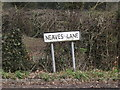 TM2372 : Neaves Lane sign by Adrian Cable