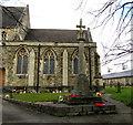 SU1484 : Stone cross in the churchyard of St Mark the Evangelist, Swindon by Jaggery
