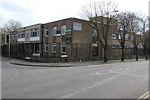 SU1484 : Military building on a Swindon corner by Jaggery