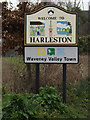 TM2382 : Harleston Town Name sign on Needham Road by Adrian Cable