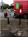 TM2482 : London Road Postbox & Dump Box by Adrian Cable