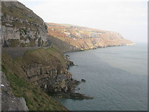 SH7783 : Cliffs at the Great Orme by G Laird
