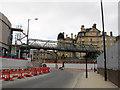 SE1633 : Broadway development, Bradford: temporary bridge by Stephen Craven