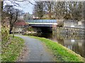 SD8433 : Leeds and Liverpool Canal, Bank Hall Works Arm Bridge by David Dixon