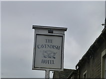 SK2572 : Cavendish Hotel Baslow sign by Monica Stagg