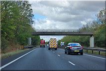 SK7668 : Bridge over A1 by Robin Webster