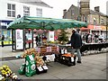 SJ9494 : Vegetable stall on Hyde Market by Gerald England