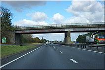 SK7964 : Bridge over A1 by Robin Webster