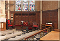 TQ1774 : St Stephen, Richmond Road - Piscina & sedilia by John Salmon
