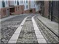 NZ2463 : Horse-drawn cart tracks in Hanover Street, NE1 by Mike Quinn