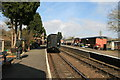 SO7486 : Hampton Loade Station - The train departing by Chris Allen