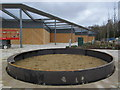 TQ7963 : New water feature of Hempstead Valley Shopping Centre by David Anstiss
