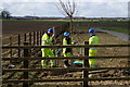 TA0437 : Planting tree's alongside the new Beverley bypass by Ian S