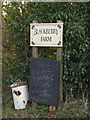 TM3271 : Blackberry Farm sign by Adrian Cable