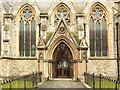 TQ3286 : St Mary, Church Street, Stoke Newington - North door by John Salmon