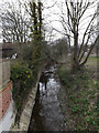 TM3863 : River Fromus off the footbridge by Adrian Cable