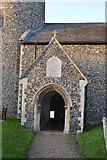 TG1807 : Entrance porch, Church of St Andrew by N Chadwick
