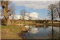 SK9672 : Ornamental Pond by Richard Croft