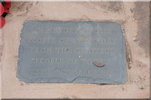 SO6729 : Plaque on Kempley war memorial by Philip Halling
