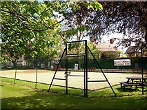 TF0920 : Petanque court at Bourne, Lincolnshire by Rex Needle