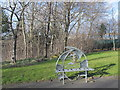 NZ2462 : Another ornamental bench at the Rose Street entrance to Gateshead Riverside Park by Mike Quinn