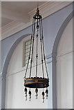 TQ3075 : St Andrew, Landor Road - Light fitting by John Salmon
