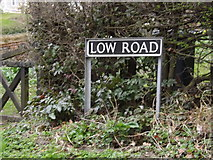 TM2384 : Low Road sign by Geographer
