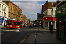 TQ2080 : Acton High Street at the junction with Church Road by Christopher Hilton