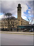 SE1338 : Saltaire Mills - North Block (New Mill) and Chimney by David Dixon