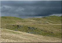 SN7767 : Moorland  east of Ffair-rhos, Ceredigion by Roger  Kidd