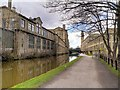 SE1438 : Saltaire Mills, Leeds and Liverpool Canal by David Dixon