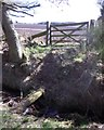 NJ5103 : Remains of a footbridge over a drain by Stanley Howe