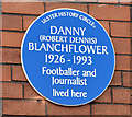 J3673 : Danny Blanchflower plaque, Belfast (March 2015) by Albert Bridge