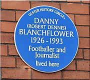 J3673 : Danny Blanchflower plaque, Belfast (March 2015) by Albert Bridge