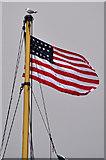 ST5772 : Bristol : SS Great Britain Flag by Lewis Clarke