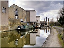 SE1437 : Leeds and Liverpool Canal, Warehouses at Wharf Street (3) by David Dixon