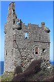 NS3119 : Greenan Castle by Leslie Barrie