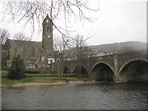 NT2540 : Peebles Parish Church and the River Tweed by M J Richardson