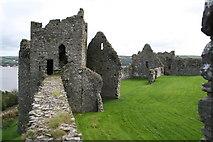 SN3510 : Llansteffan Castle by Jo Turner
