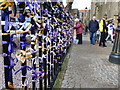 SK5804 : Prayer ribbons on the Leicester Cathedral fence by Mat Fascione