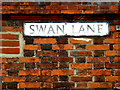 TM2483 : Swan Lane sign by Adrian Cable