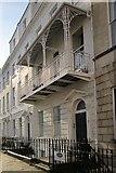 ST5673 : Balcony on terrace, Clifton by Derek Harper