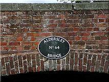 SJ9001 : Aldersley Bridge (detail) near Oxley, Wolverhampton by Roger  Kidd