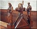 SO6554 : St Peter, Bromyard - Bench end by John Salmon