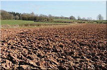 SO6731 : Ploughed field near Kempley by Philip Halling